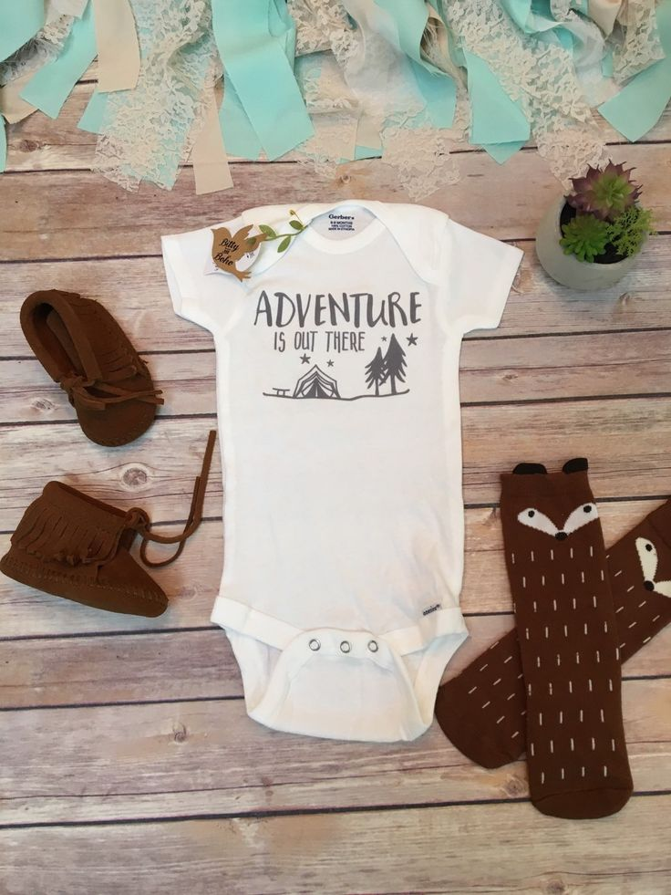 Adventure is Out There Onesie®, Baby Boy Clothes, Baby Shower Gift, Cute Onesies, Boho Baby Clothes, Camping Onesie, Hipster Baby Clothes