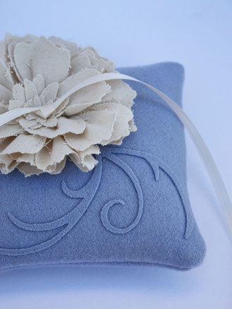 Beautiful ring pillow
