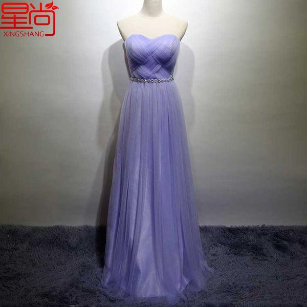 结婚姐妹裙伴娘服短款夏新娘宴会敬酒晚礼服长款紫色伴娘团礼服