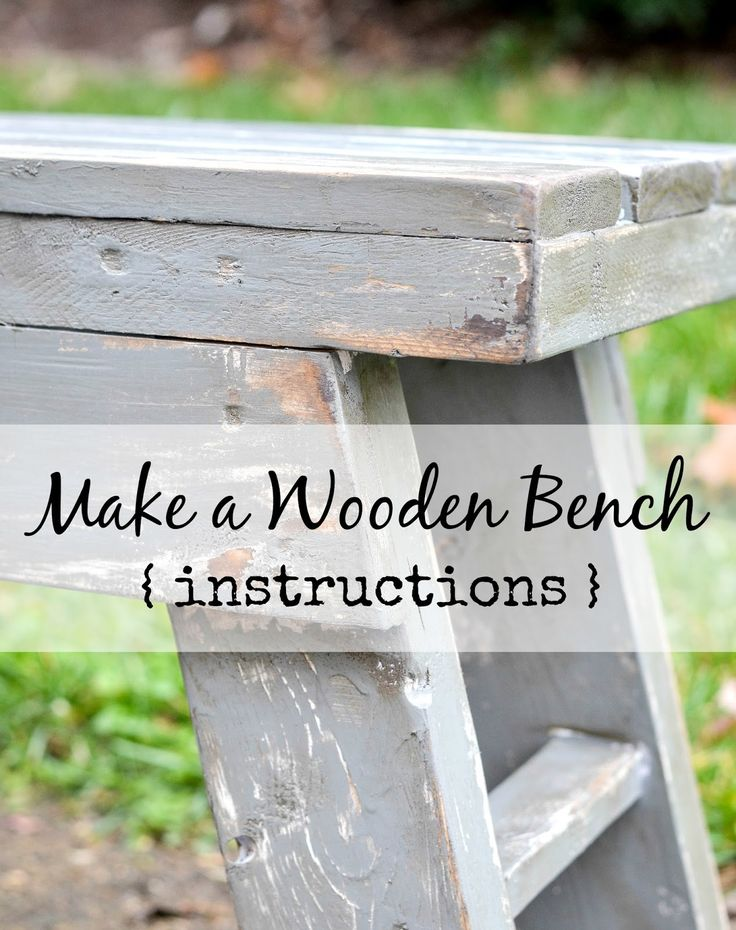 Down to Earth Style: Make a Sturdy Wooden Bench {instructions}