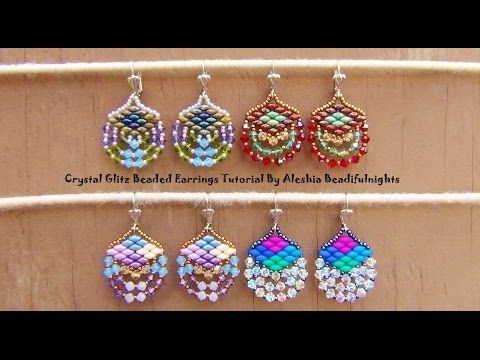 Crystal Glitz Beaded Earrings Tutorial - YouTube