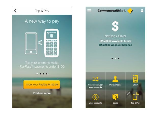 Commonwealth Bank in Australia launching new wallet app, with NFC payments for Android and iOS (sticker)