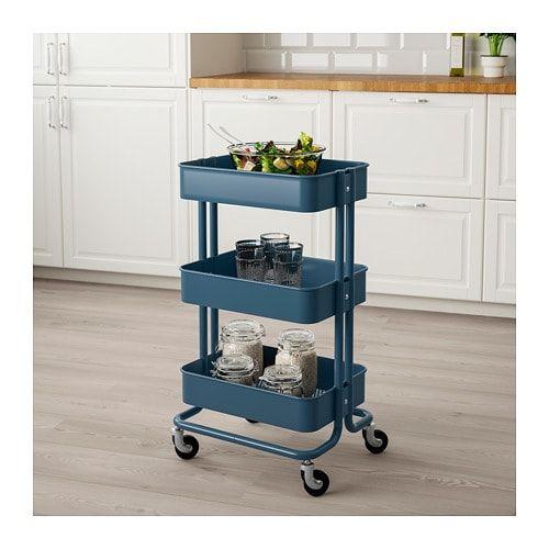 Carrello Ikea Cucina.Raskog Carrello Blu Scuro Idee Regali Nel 2019 Idee