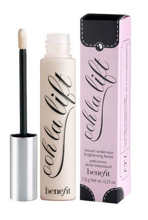 best thing ever....put on concealer then pat a little ooh la lift so you have flawless under eyes and makeup won't settle in cracks.  Its an intstant eye lift