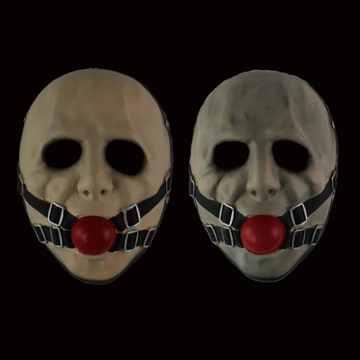 The Gagball Payday 2 Mask Game Props Game Fans Necessary Collectible Resin Home Decor Scary Clown Cosplay Masquerade Party Mask
