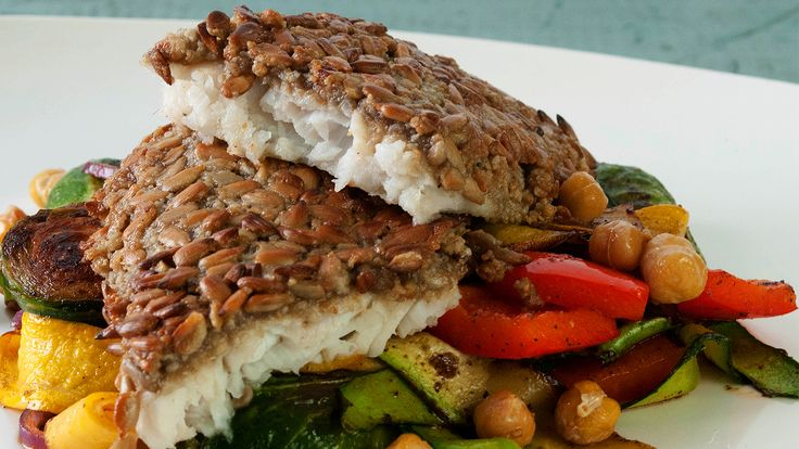Sunflower Seed-Crusted Sole