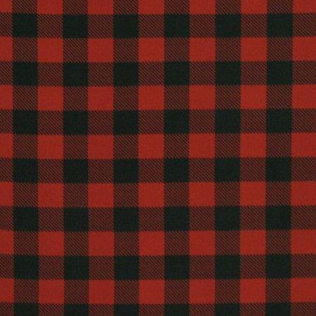Tissu Imprimé des Fêtes pour Table - Carreaux Buffalo - Rouge / Noir
