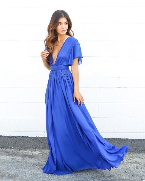 Serita Maxi Dress - Cobalt Blue