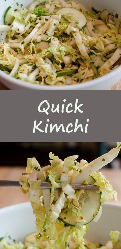 Quick Kimchi, no fermenting need in this easy and flavorful recipe