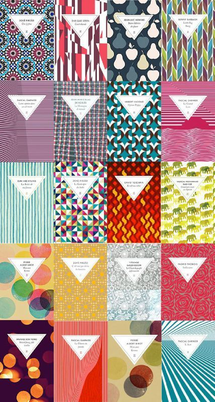 Inspiration patterns and colour palettes | David Pearson, éditions zulma