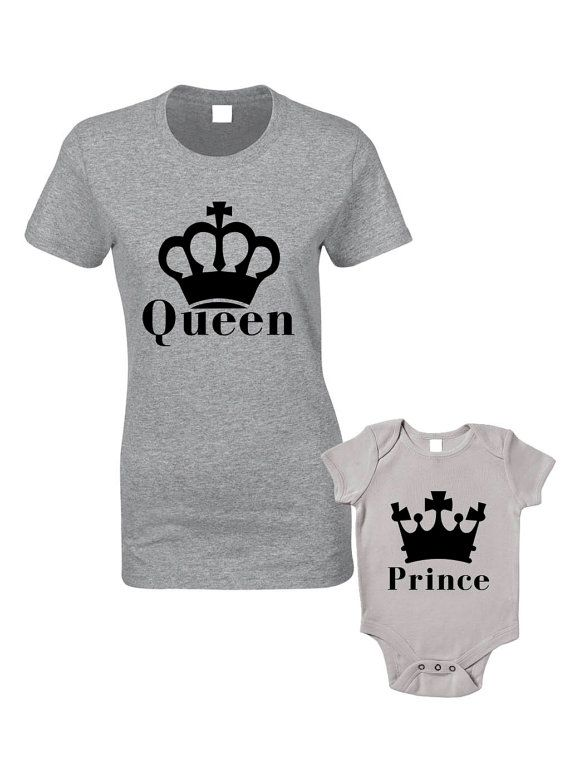 Queen & Prince T-Shirts or Baby Grow  Matching by BlueIvoryLane