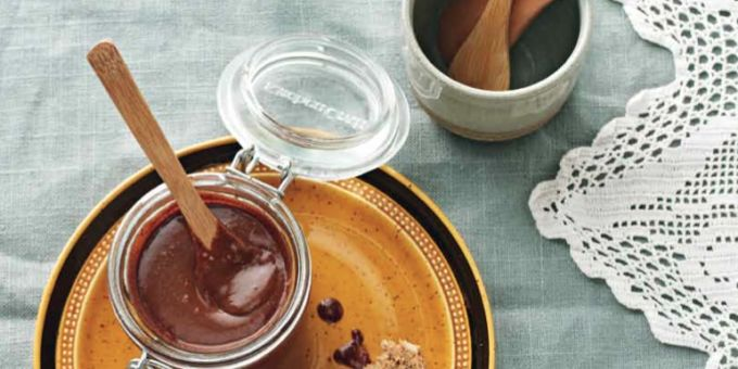 Sugar-Free Nutella 1 c. hazelnuts ½ C. coconut milk 1/3 C. rice malt syrup 1 T. macadamia oil or coconut oil 1/4 C. raw cacao powder 1 T. vanilla Preheat oven to 350º. Bake the hazelnuts for 8-10 minutes, until browned. Rub most of the skins off. Grind the nuts in a food processor until smooth. Add the remaining ingredients and process until well mixed. Add extra coconut milk if you want more of a 'sauce' consistency. Store in the fridge for several weeks.