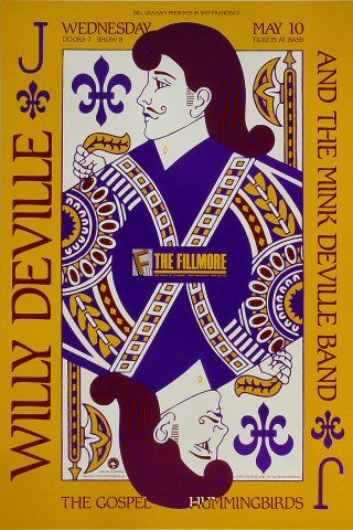 Willy DeVille Fillmore Auditorium on 10 May 89