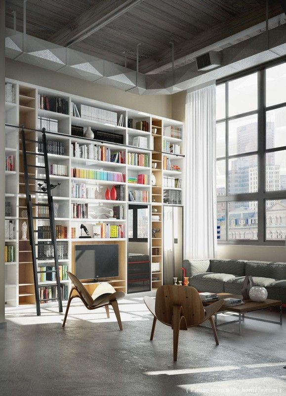 Brick Wall Studio Apartment Inspiration, Love The Eames Style Chairs In  This Loft. Part 93