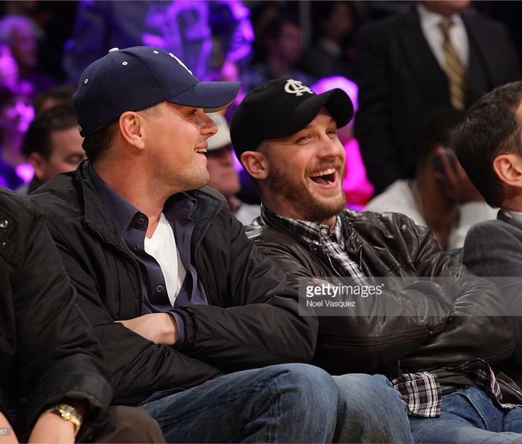 Leo & Tom watching a Lakers game -Feb 2011