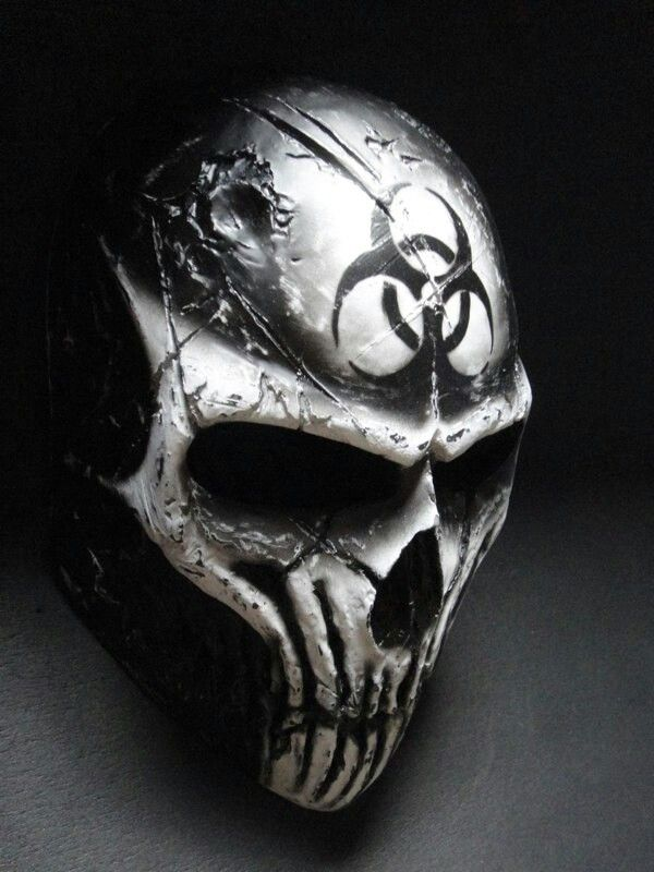 Paintball mask skull design