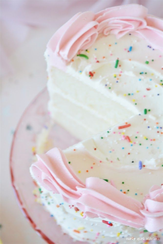 Vanilla Buttermilk Birthday Cake Curly Girl Kitchen Recipe Buttermilk Cake Recipe Cake Recipes Homemade Birthday Cakes