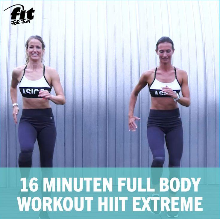Ganzkörper Bodyweight Training: 16 Minuten Full Body Workout HIIT Extreme