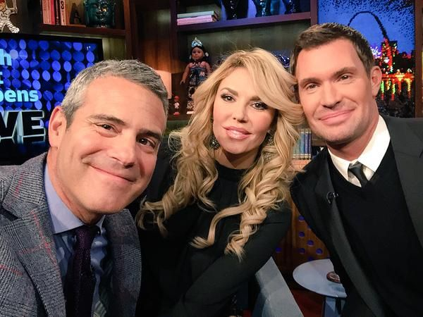 Most awkward moment in WWHL history!!!! WTF moment.   Brandi Glanville Throws Wine At Jeff Lewis, Pretends To Cry On Most Awkward Episode Of WWHL with Andy Cohen