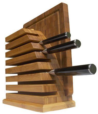 Der magnetische Messerblock für den Chef Koch. http://www.bestbambus.de/Messerblock-Profikoch.htm