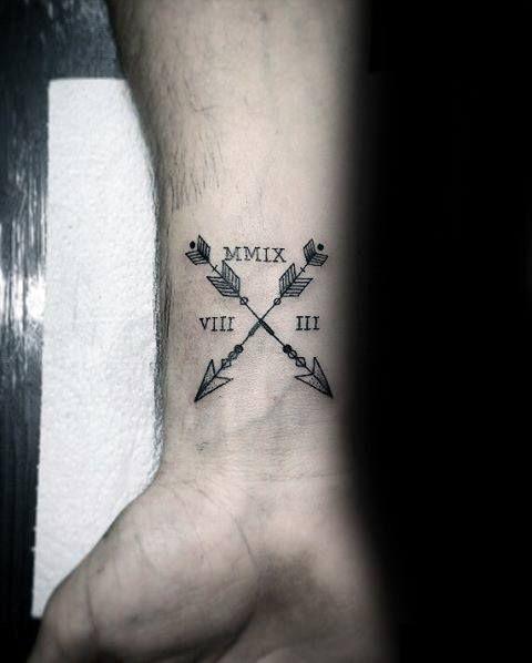 5a48f36f49350 Wrist Distinctive Male Small Arrow Tattoo Designs #small #tattoo #tattoos  #tatuaje #pequeño #tatuajes