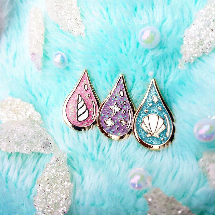 Unicorn's Blood, Fairy's Sweat & Mermaid's Tears Hard Enamel Glitter Lapel Pin Set - Cute Fantasy Accesories -Unique Gift for Her by ColourfyMe on Etsy https://www.etsy.com/listing/480493698/unicorns-blood-fairys-sweat-mermaids