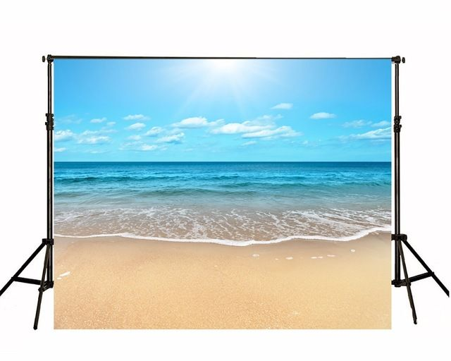 Children Photographic Backgrounds Vinyl Photo Backdrops Toile De Fond Backdrops Summer Sea Beach Backgrounds For Photo Studio