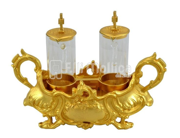 Cruets Set for Mass Baroque with handles