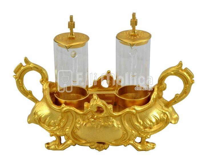 Cruets Set for Mass Baroque with handles
