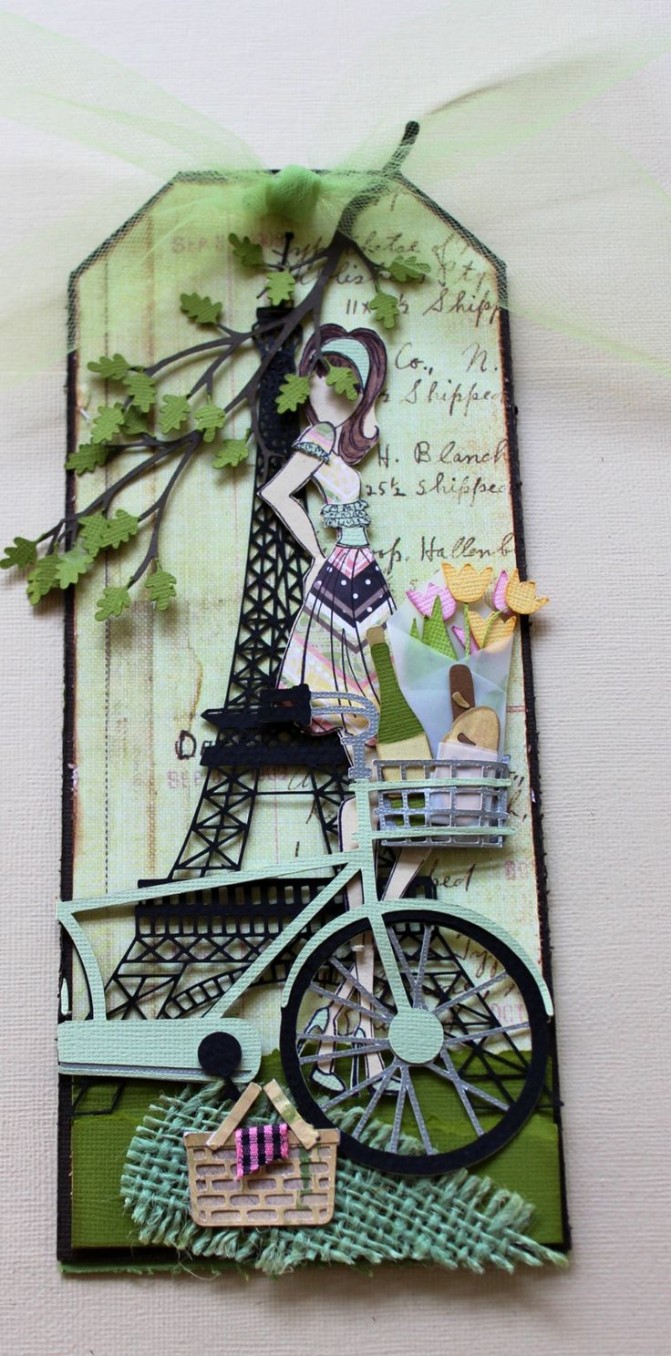 Paris Collection--Summer created with Julia Nutting Paper Doll Stamps ♡