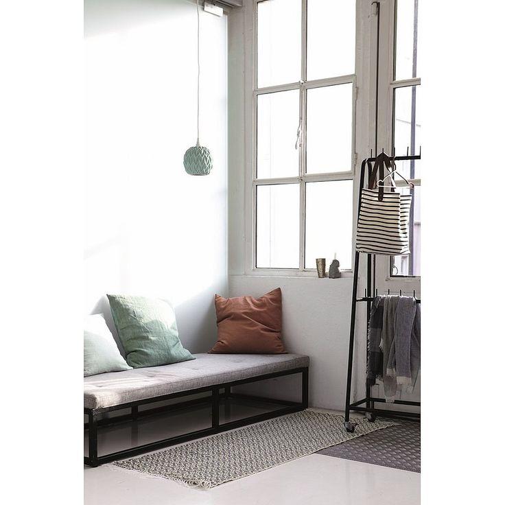 House Doctor Rhombus Vloerkleed Grijs/Crème - 70 x 180 cm