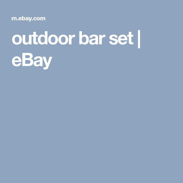 outdoor bar set | eBay