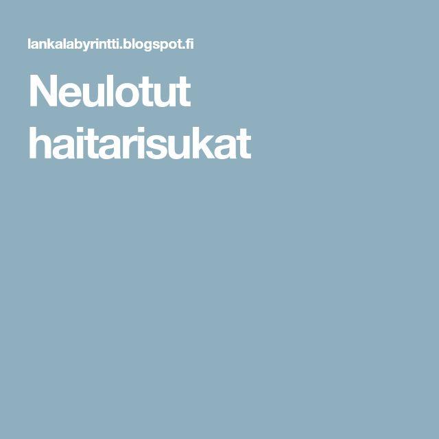 Neulotut haitarisukat