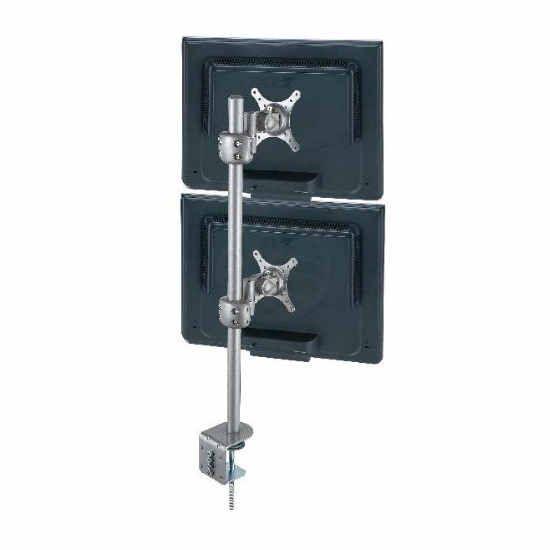 Soporte para 2 Monitores Vertical VESA 50/75/100 Negro Soporte