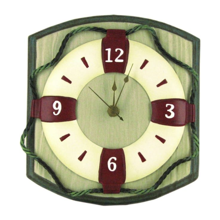 nautical wall clock 8 grey metal