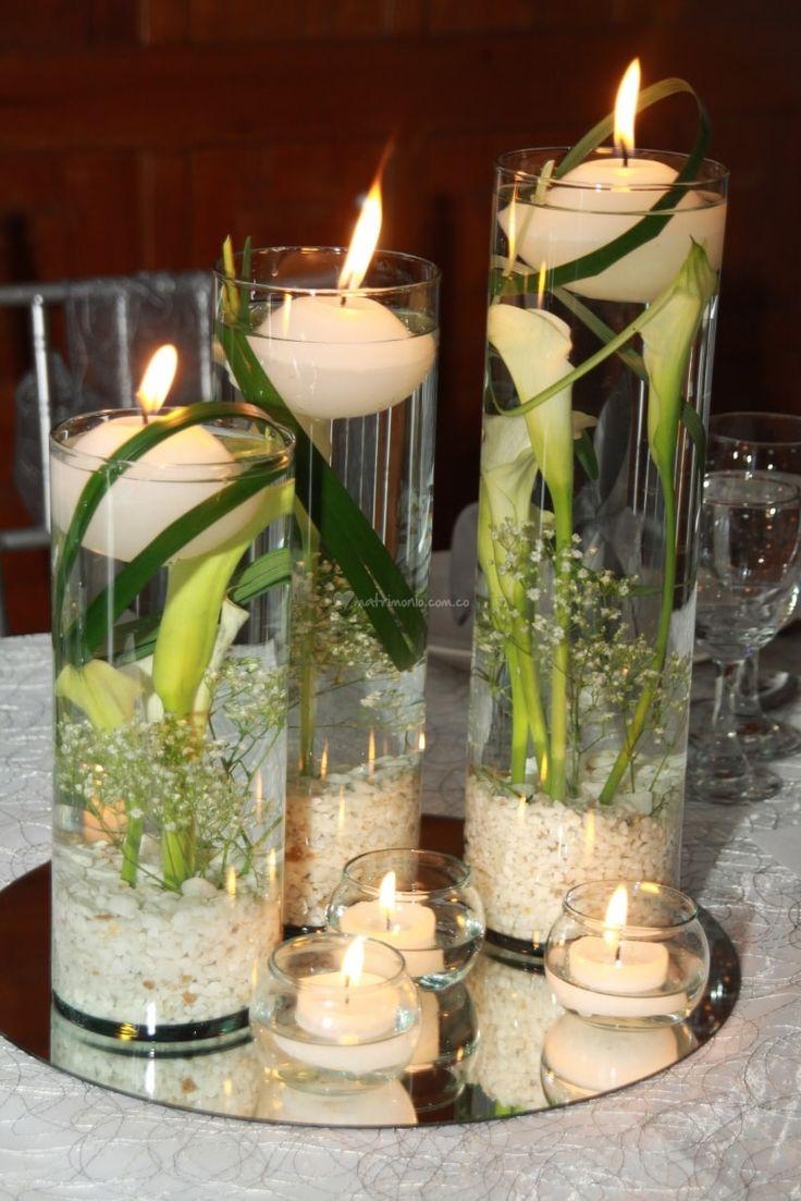Decoracion para cena matrimonio buscar con google for Adornos para bodas con plantas