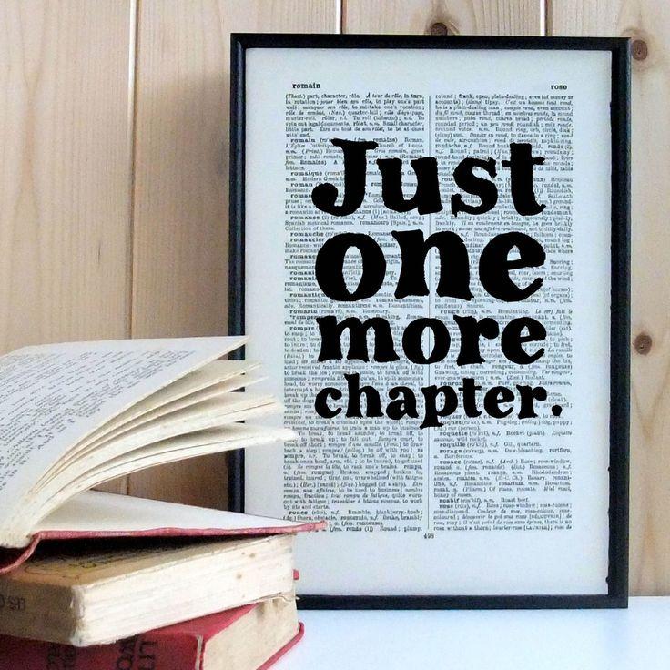 Plakát v dřevěném rámu Just One More Chapter | Bonami