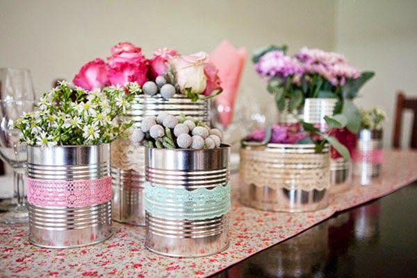 Centro de Mesa com flores! | Guia Tudo Festa - Blog de Festas - dicas e ideias!