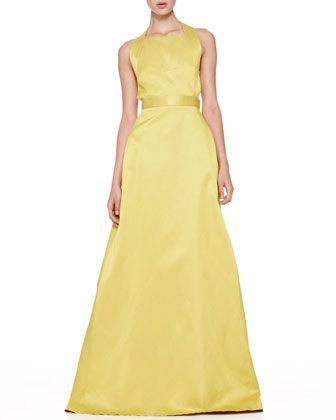 Jason Wu Duchesse Twist-Back Gown - Bergdorf Goodman