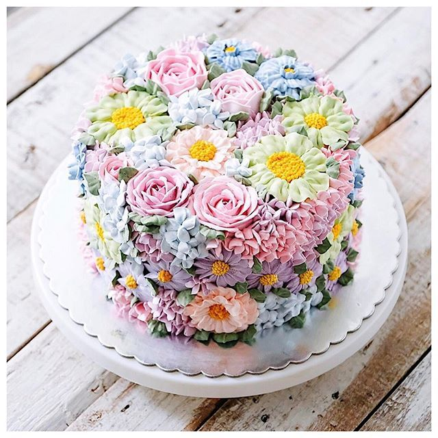 best  floral cake ideas on   elegant cakes, pretty, Beautiful flower