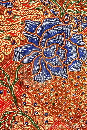 Batik Pattern, Yogyakarta, Indonesia