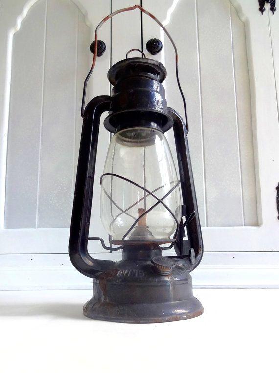 Vintage Lamplight Farms Kerosene Lantern Glass Lamp By