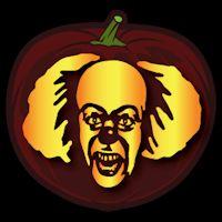 Pennywise 02 pumpkin stencil pumpkin for Creepy clown pumpkin stencil