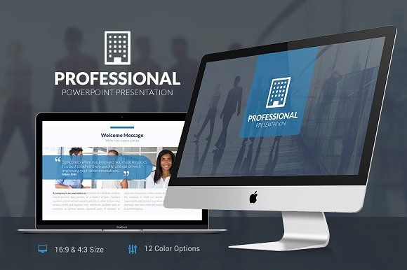 Professional Powerpoint Template by SlidePro on @creativemarket