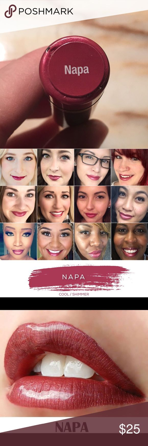 LipSense NAPA Best-Selling Waterproof Lipstick Brand new, sealed LipSense waterproof, smudge-proof, smear-proof, kiss-proof, gluten-free, lead-free & vegan lipstick in Napa! LipSense Makeup Lipstick