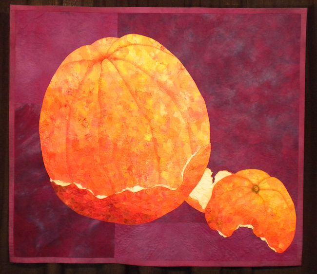 Vitamin C by Helena Scheffer and Marion Perrault. Juried into 2012 IQA Show, Houston Quilt Festival