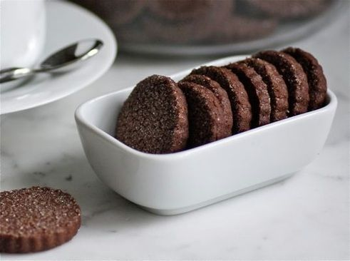mexican chocolate shortbread cookies.   I will I will BAKE you   Pint ...