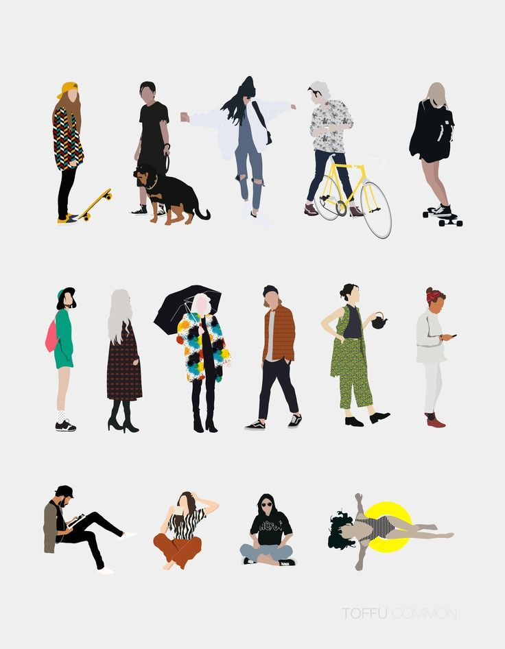 Free 15 Vector Common People Pack | Toffu | For mo…