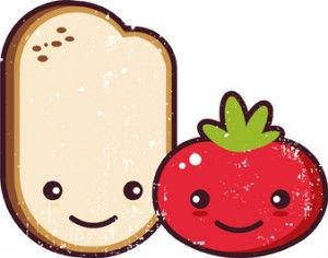 pa amb tomaquet: Once upon a time there was a tomato and a slice bread...