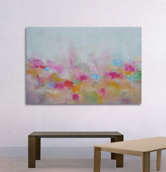 Large Abstract Painting Landscape abstract Wall art by ARSartshop